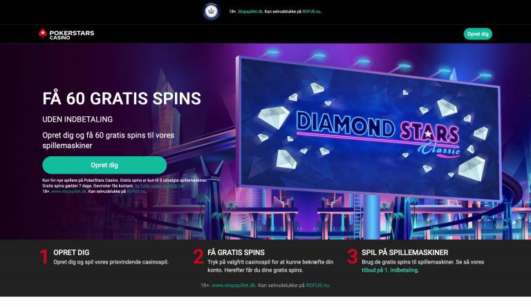 Opret dig hos PokerStars Casino og få bonus på første indbetaling
